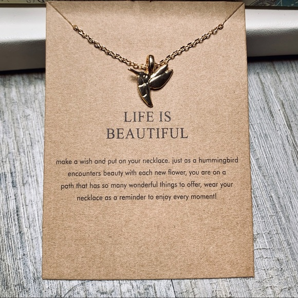 8e5fa65d7 Fashion Jewelry Jewelry | Life Is Beautiful Bird Charm Necklace Gold ...